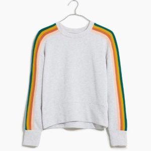 Madewell Rainbow-Inset Crop Sweatshirt